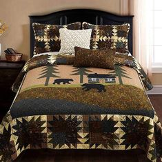 Brown Beige Tan Moose Lodge Cabin 4 pc Fleece Sheet Set Twin Full Queen King Bed