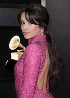 low ponytail camila cabello 10 Red Carpet Looks That Prove the Low Ponytail Can Actually Be Versatile Low Ponytails, Low Ponytail Hairstyles, Blonde Ponytail, Waist Length Hair, Issa Rae, Straight Ponytail, Iconic Movies, Red Carpet Looks, Black Ribbon