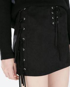 FRINGED MINI SKIRT-Skirts-WOMAN-SALE | ZARA United States