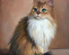 Custom Colored pencils Cat Portrait. Drawing by by YanasFineArt
