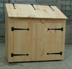 Garbage Can Shed, Garbage Can Storage, Shed Storage, Storage Bins, Storage Area, Bin Shed, Utility Sheds, Diy Shed Plans, Shed Kits