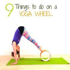 9 Things to do on a Yoga Wheel. Learn how to massage your back, deepen your backbends, improve your core strength, twist, and even chill out.