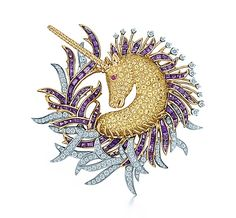 Tiffany & Co. | Item | Jean Schlumberger Unicorn clip of diamonds, sapphires and amethysts in 18k gold. | United States