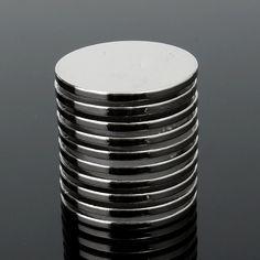 10 UNIDS 25mm x 2mm N35 Fuerte Ronda de Tierras Raras de Neodimio Imán Imanes imán Circular imán Permanente