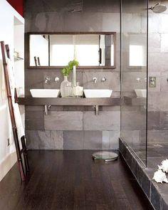 37 grey slate bathroom wall tiles ideas and pictures 2019 Grey Slate Bathroom, Grey Bathrooms, Beautiful Bathrooms, Bathroom Wall, Small Bathroom, Bathroom Sinks, Serene Bathroom, Modern Bathroom, Bathroom Ideas