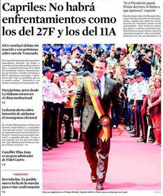 Primera Página El Universal, 17 de enero de 2013