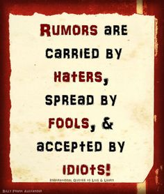 I like this :)...I really hate gossip; very low tolerance for it, so I love this, too.