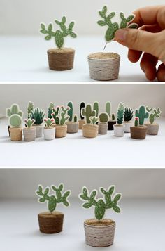 A tiny embroidered cactus..why not? Tiny home? Live in Antartica? Totally adaptable and sustainable! No allergies!