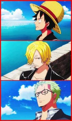 Luffy, Zoro, and Sanji