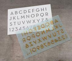 L Letterpress printing: Modern Alphabet, letterpress supplies | Boxcar Press