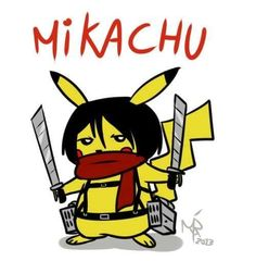 Mikasa & Pikachu Crossover