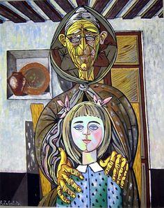 Rafael Zabaleta. Spain.La vieja y la niña.