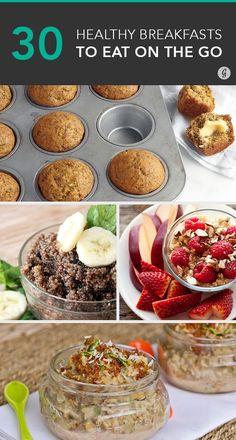 30 Healthy Breakfast Snacks for Mornings on the Run #healthy #breakfast #onthego