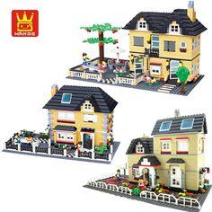 WANGE City Villa Garden Building Blocks Sets Doll House Bricks Model Kids Children gifts Toys Compatible Legoe #Affiliate