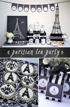 An Afternoon in Paris Tea Party featured on @Courtney Baker Baker Whitmore   Pizzazzerie