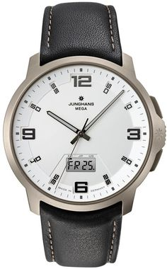 Junghans Watch Voyager Mega MF Pre-Order #basel-15 #bezel-fixed #bracelet-strap-leather #brand-junghans #case-depth-10-1mm #case-material-titanium #case-width-42mm #date-yes #day-yes #delivery-timescale-call-us #dial-colour-silver #gender-mens #luxury #movement-quartz-battery #new-product-yes #official-stockist-for-junghans-watches #packaging-junghans-watch-packaging #pre-order #pre-order-date-30-07-2015 #preorder-july #style-dress #subcat-voyager-mega-mf #supplier-model-no-056-2511-00…