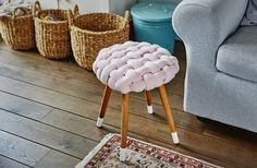DIY braided stool that's uniquely cool: This do-it-yourself stool is so cool, you'll invite friends over just to show it off (and sit on it, of course).