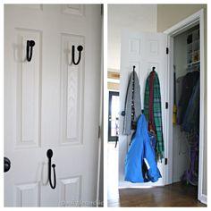 A helpful way to #organize the coat closet!