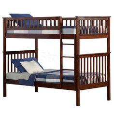 Woodland Twin / Twin Bunk Bed | Antique Walnut