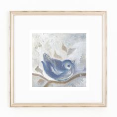 A Bird On A Tree Branch. Winter. Original Oil Painting. Home Decor. Wall Art. by…