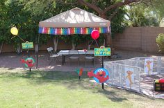 Munchkin's Elmo Themed 2nd Birthday Party w/ Rubber Ducky Punch