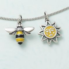 Enamel Bumble Bee Charm and Sunny Days Charm #jamesavery