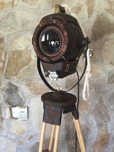 vintage searchlight tripod lamp-manes-marzano.com.ar