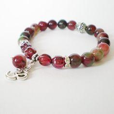 tourmaline stretch bracelet gemstone stacking by jcudesigns, £12.00