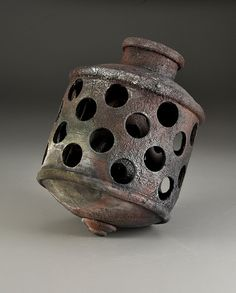 Kenneth Baskin - Bubbler - Artifact Series, 2013 - thrown and handbuilt, Cone Sagger Fired - Stoneware Ceramic Artists, Contemporary Artists, Art Dolls, Stoneware, Arts And Crafts, Pottery, Clay, Gcse Art, Ceramic Sculptures