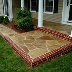 Concrete #Garden path looks like stone Read great articles on driveway and garden path ideas here http://articles.builderscrack.co.nz/category/outdoor-living/ or hire a professional today from #Builderscrack http://builderscrack.co.nz/post-job-desc