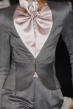 Armani Privé. Love the pink and gray!!
