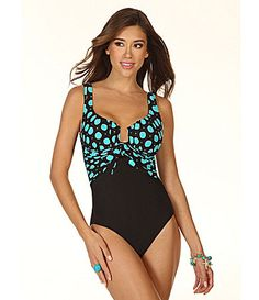 3ca210ee3c2d6 Miraclesuit Powerballs Sandra OnePiece Swimsuit #Dillards so cute!!!  Dillards Swimsuits, Green. Dillards SwimsuitsGreen One Piece ...