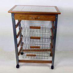 Details zu Küchenwagen Holz Küchenhelfer Rollwagen Küchentrolley ... | {Küchenwagen holz 51}