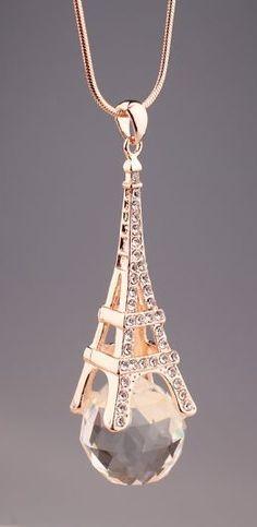 Eiffel Tower diamond necklace