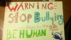 Stop the bullying. Kids contributing to anti-bully campaign Stop Bullying, Anti Bullying, Together We Stand, Art For Kids, Kid Art, Something To Do, Creative, Campaign, Instagram