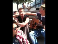 Niall Horan with @DambroMusic singing Bieber's 'Baby' at XFactor Boot Camp