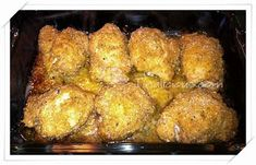 Baked Parmesan Chicken •6-8 Boneless, Skinless Chicken  •1 Stick Of Melted Butter  •2 Tsp Minced Garlic •1 Cup Italian Bread Crumbs •2/3 Cup Parmesan Cheese •1 Tsp Dried Basil •salt, To Taste (opt) - Click for More...