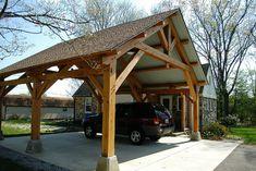 Porte Cochere Design Ideas, Pictures, Remodel and Decor - Carport garage Porte Cochere, Gazebo, Pergola Patio, Pergola Canopy, Wooden Pergola, Patio Roof, Carport Garage, Detached Garage, Barn Garage