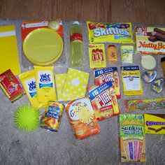 Care package, box of sunshine items