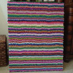 Mardi Gras bead artwork