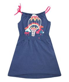 Navy Umbrella Penny Organic Dress - Infant, Toddler & Girls #zulily #zulilyfinds