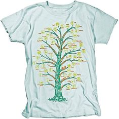 90822c1aa Ladies Evolution T-shirt Tree of life Science Tee Shirt by nonfictiontees  on Etsy