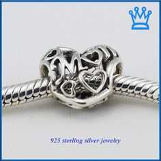 Fits for Pandora Bracelets DIY Making Authentic 925 Sterling Silver Beads Openwork Mum Silver Charms for Women Jewelry FL209