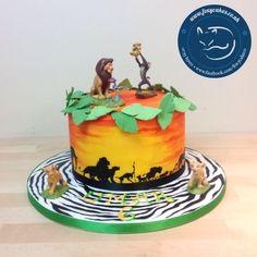 Lion King themed Cake, made by The Foxy Cake Co!