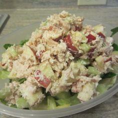 Tuna Salad with Apples and Greek Yogurt ~ E {Trim Healthy Mama, GAPS, SCD, Gluten Free, Grain Free} | Counting All Joy
