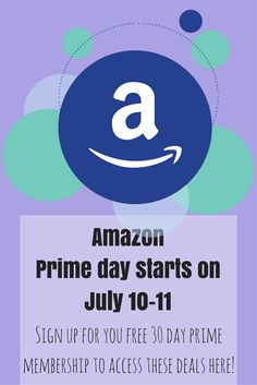 Amazon prime day, get your free 30 day membership here! You don't want to miss tines Amazon deals! Great discounts on baby items, household products, music, kindle items and more! Use my affiliate link to get your quick and easy a,axon prime access.