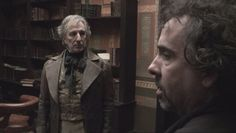 Sweeney Todd behind the scenes with Alan and director Tim Burton