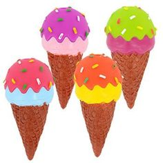 Ice Cream-Shaped Vinyl Dog Toys, 5.5 in.