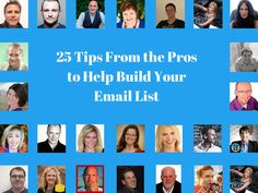 How to Build Your Email List: 25 Tips From the Pros Email Marketing Strategy, Inbound Marketing, Online Marketing, Your Email, Email List, Melbourne, Surf, Entrepreneur, Coast