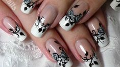 Today's nail design is a simple french tip manicure with black and White roses :) As for the plastic bag method - I find that it's enough to let it dry for a...
